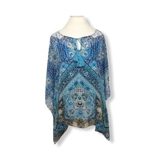 Rose & Olive Women's Blouse and cami Printed Teal